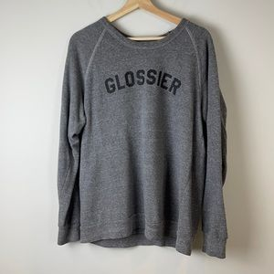 Glossier grey sweatshirt size medium